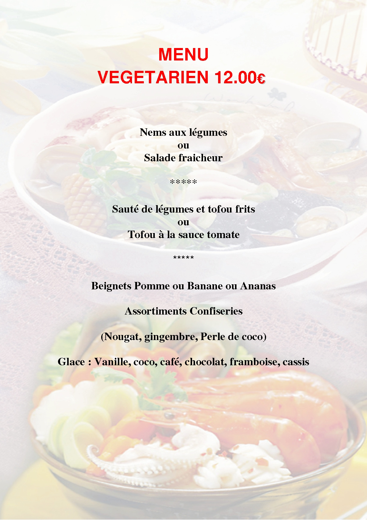 Menu vegetarien 12